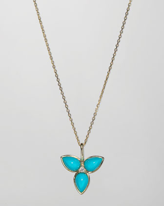 Mariposa 18k Gold Mini Pendant Necklace