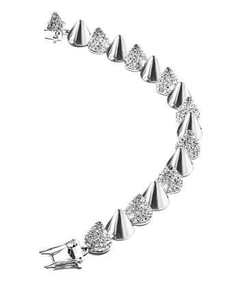 Alternating Small-Cone Bracelet, Silver