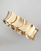 Large Gold-Plated Shingle Bracelet