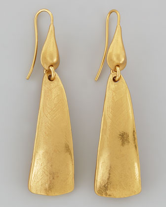Gold-Plated Drop Earrings