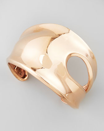 Cutout Rose Gold Cuff Bracelet