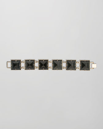 Electra Faceted Bracelet, Black