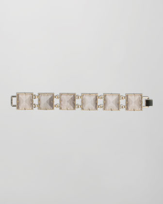 Electra Faceted Bracelet, Gray