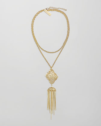 Miranda Tassel Pendant Necklace