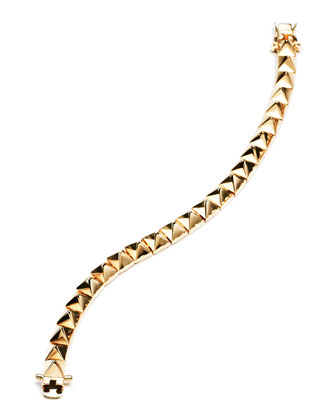 Small Pyramid Bracelet, Yellow Gold