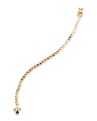 Yellow Gold Pyramid Tennis Bracelet