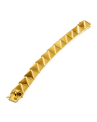 Large Pyramid Bracelet, Yellow Gold