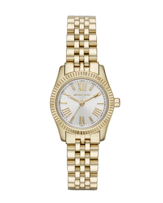 Petite Gold Color Stainless Steel Lexington Three-Hand Watch