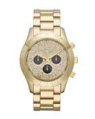Mid-Size Golden Stainless Steel Layton Glitz Watch