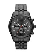 Oversize Black Stainless Steel Lexington Chronograph Watch