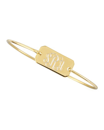 Chiara Monogrammed Rectangle Bracelet, Gold