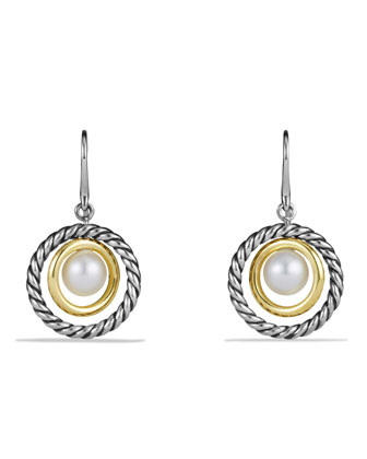 Drop Earrings with Pearls and Gold