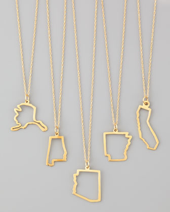 14k Gold Necklace, Alabama-Missouri & Long Island