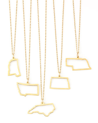 14k Gold Necklace, Mississippi-Wyoming & DC