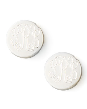 Lia Monogrammed Stud Earrings