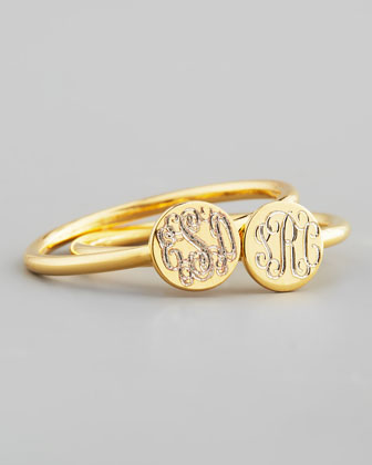 Gold Rocha Round Engravable Ring