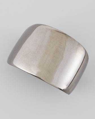 Polished Gunmetal Cuff Bracelet