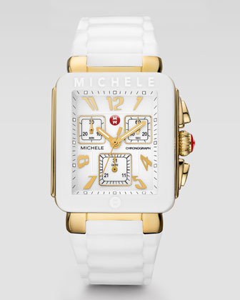 Park Jelly Bean Watch, White/Yellow Golden