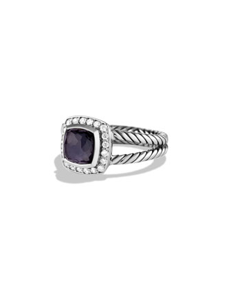 Petite Albion Ring with Black Orchid