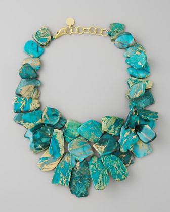 Clustered Turquoise Jasper Necklace