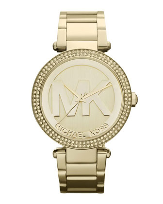 Golden Stainless Steel Parker Chronograph Glitz Watch