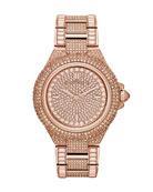 Mid-Size Rose Golden Camille Three-Hand Glitz Watch