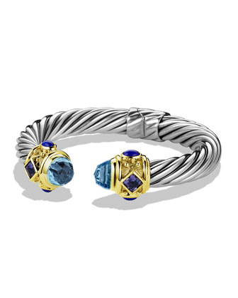 Renaissance Bracelet with Blue Topaz, Iolite, and Gold