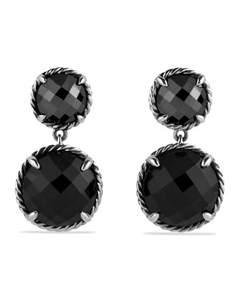 Chatelaine Double-Drop Earrings with Black Onyx and Hematine