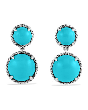 Chatelaine Double-Drop Earrings with Turquoise