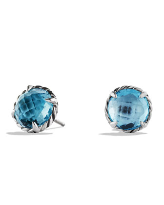 Chatelaine Earrings with Blue Topaz