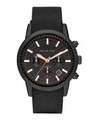 Men's Black Silicone Scout Chronograph Watch
