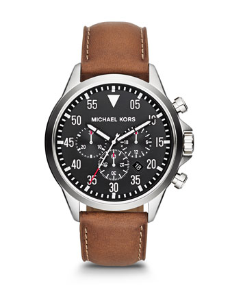 Michael Kors Men's Oversize Brown Chronograph Watch