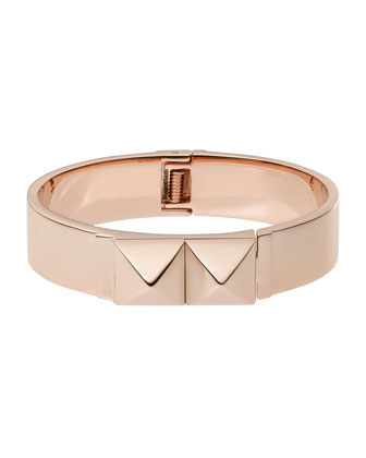 Pyramid Bangle, Rose Golden