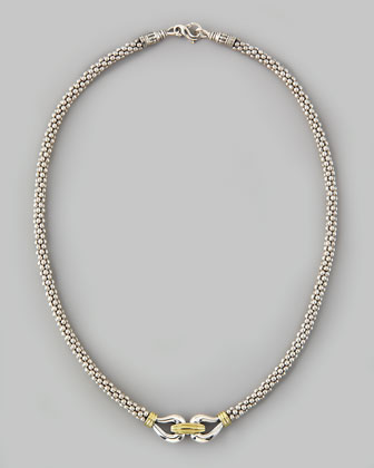 Derby Caviar Mixed-Metal Necklace, 16