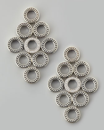 Enso Diamond Circle Chandelier Earrings