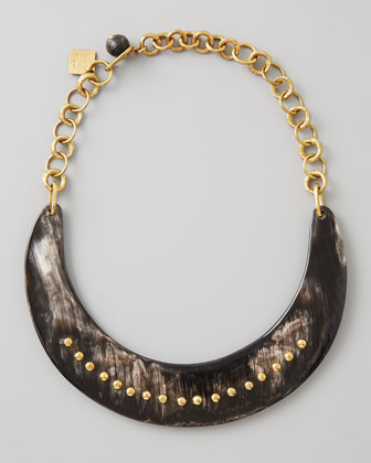 Kaba Collar Necklace, Dark Horn