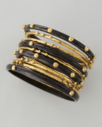 Shaba Bangle Set Dark Horn