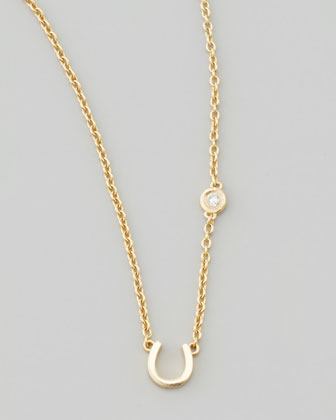 Horseshoe & Single-Diamond Necklace