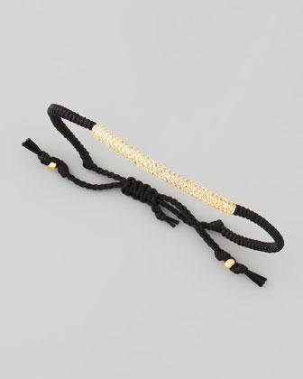 Rhinestone Tube Bracelet, Black