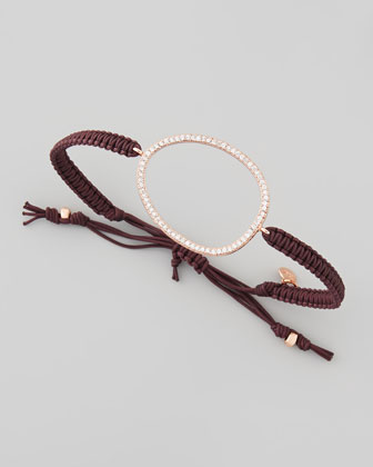 Open Oval Rose Golden Bracelet, Brown