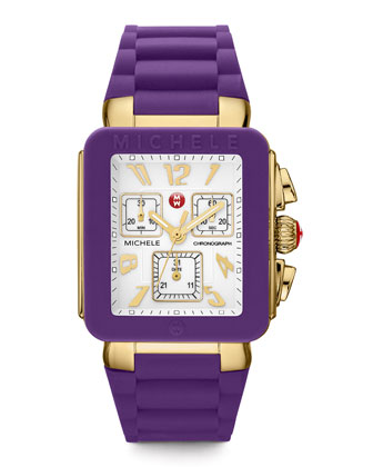 Park Jelly Bean Watch, Purple/Yellow Golden
