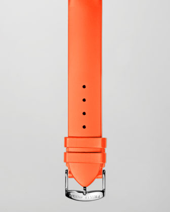 18mm Silicone Strap, Orange