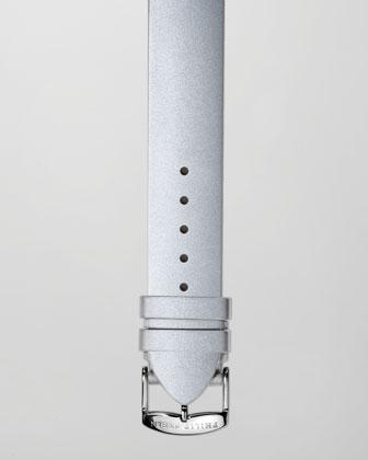 20mm Silicone Strap, Platinum