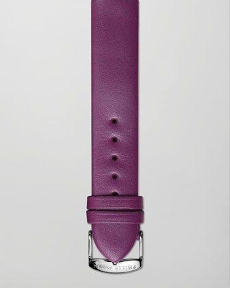 18mm Calfskin Leather Strap, Purple