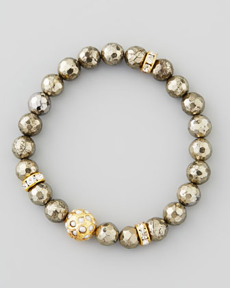Sada Pearlescent-Beaded Stretch Bracelet