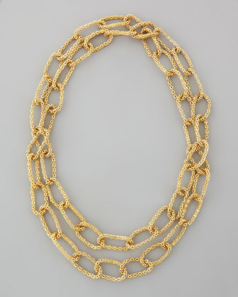 Mini Metal Mesh Necklace, Gold