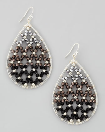 Woven-Fill Drop Earrings