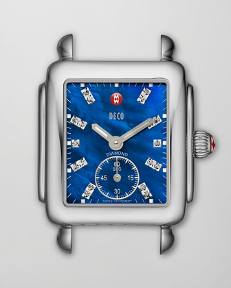 Deco 16 Blue Dial, Diamond Dial
