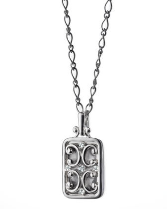 Rectangular Gate Pendant Necklace