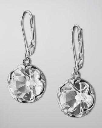 Bezel-Set Rock Crystal Drop Earrings
